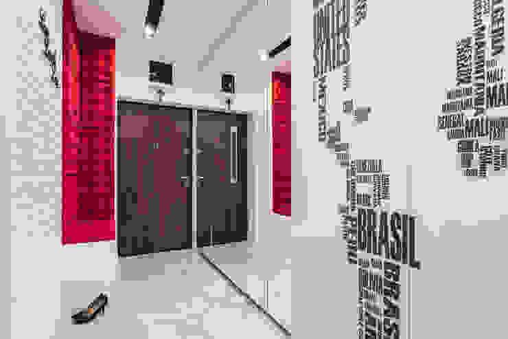 mieszkanie Ochota, Warszawa Nowoczesny korytarz, przedpokój i schody od Kameleon - Kreatywne Studio Projektowania Wnętrz Nowoczesny
