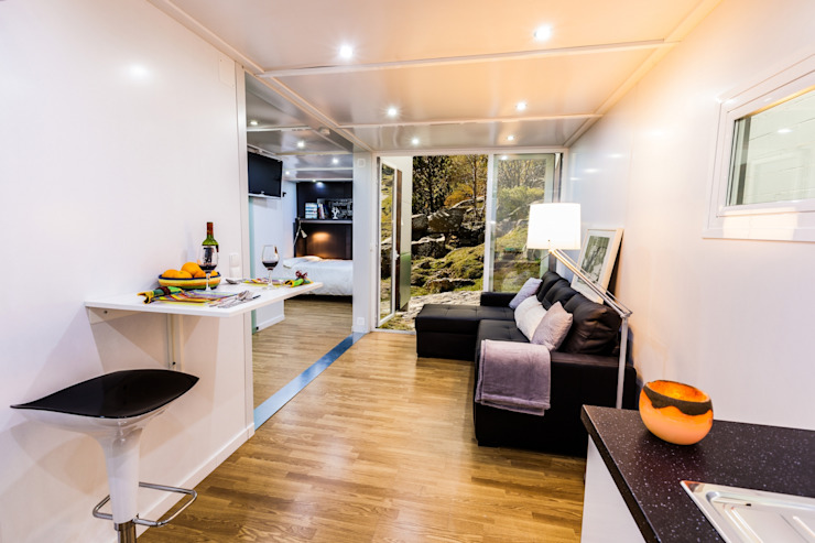 Salas / recibidores de estilo  por MoDULoW, Moderno