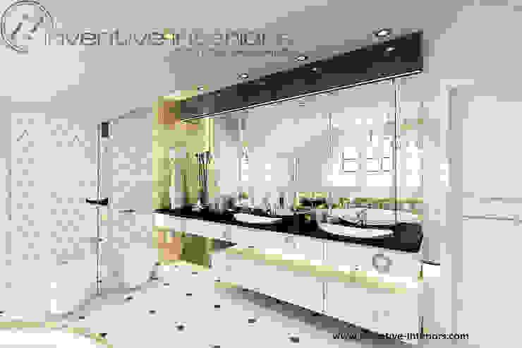 Złoto w łazience Klasyczna łazienka od Inventive Interiors Klasyczny