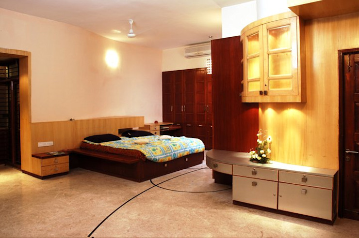 Anwar salim and sabeena saleem s residence Modern style bedroom by Murali architects Modern