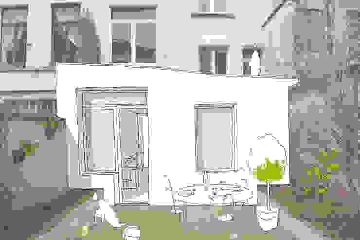 Extension d'une maison unifamiliale à Ixelles Maisons modernes par Responsible Young Architects sprl Moderne Bois Effet bois