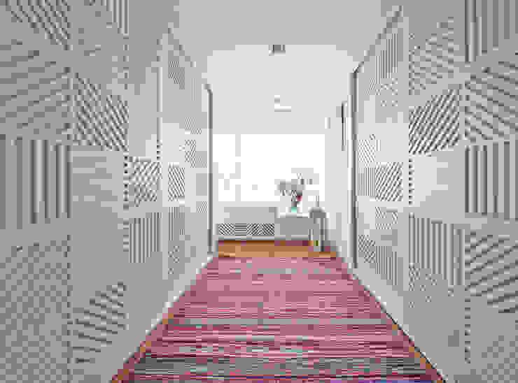 Modern corridor, hallway & stairs by Luzestudio Fotografía Modern