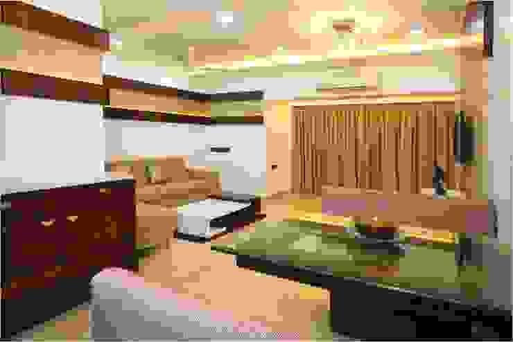 Pali Hill, Bandra Modern living room by suneil Modern