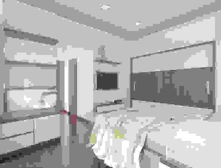 Rustomjee, Thane Modern style bedroom by suneil Modern