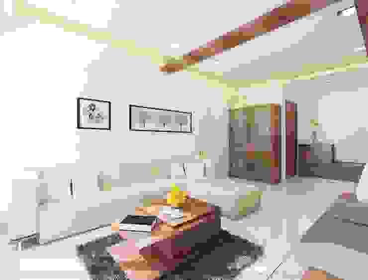Rustomjee, Thane Modern living room by suneil Modern