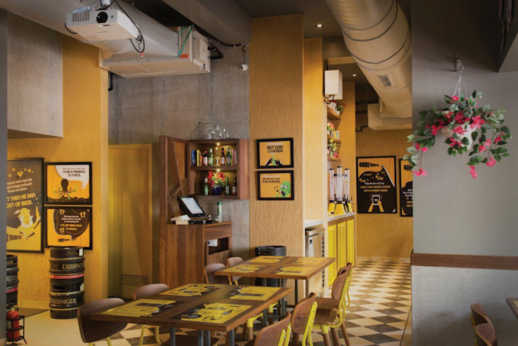 beer cafe mahim Rustic style bars & clubs by S S Designs Rustic