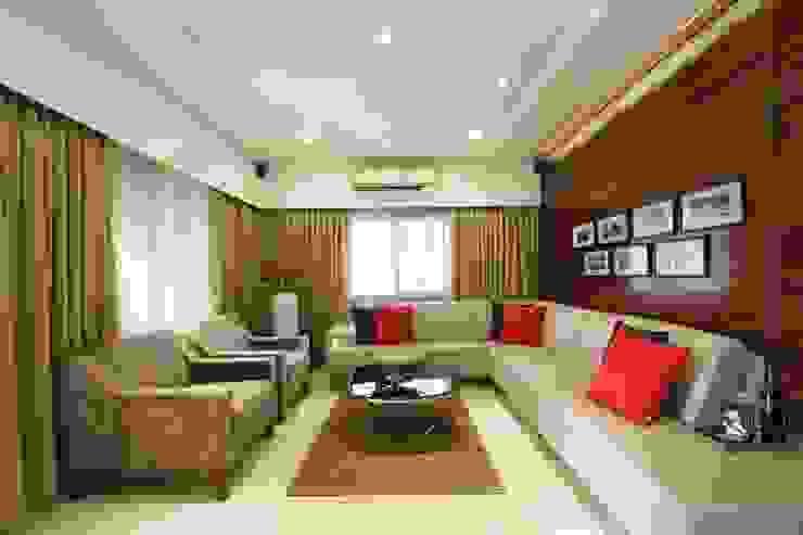 Sandeep Gandhi Bungalow Modern living room by P & D Associates Modern