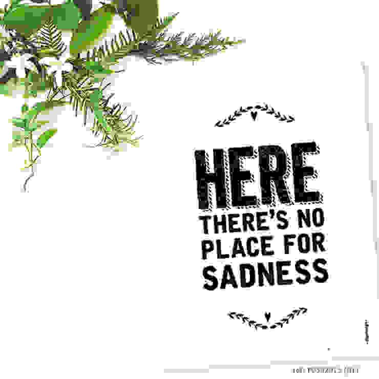 ★ poster ★ no place for sadness ★ por Digo Escandinavo Papel