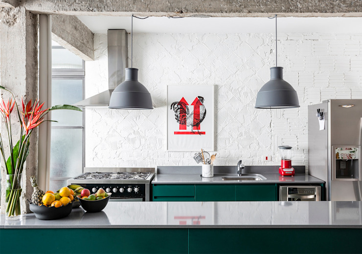 Kitchen by RSRG Arquitetos, Minimalist