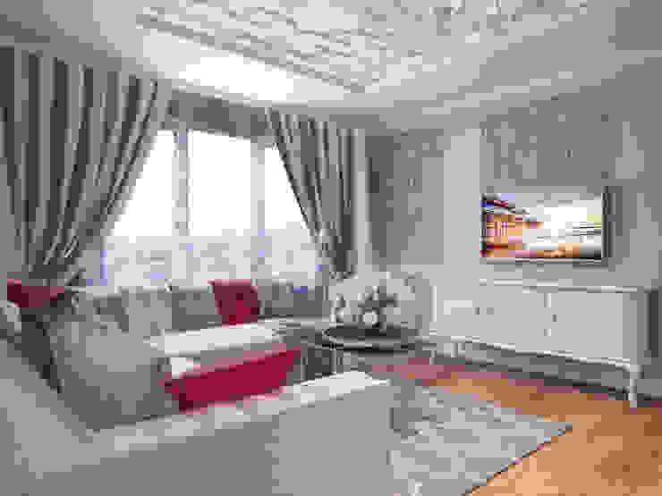 Квартира в современном классическом стиле, г. Пушкин Гостиная в классическом стиле от Студия дизайна интерьера Маши Марченко Классический