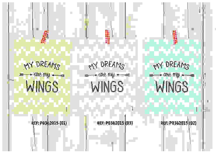★ poster ★ my dreams are my wings ★ por Digo Escandinavo Papel