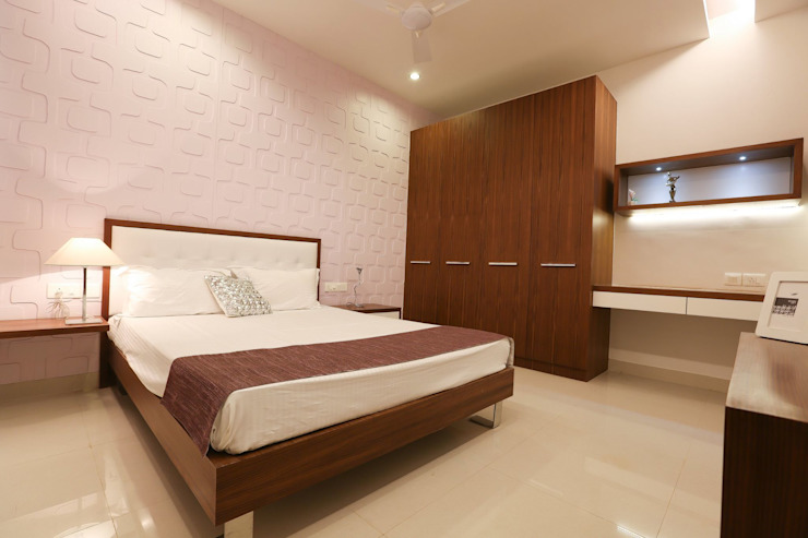Model Flat Modern style bedroom by Design Cafe Modern