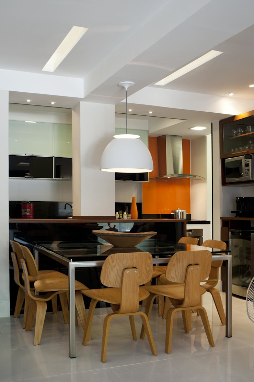 Apto K Salas de jantar modernas por m++ architectural network Moderno