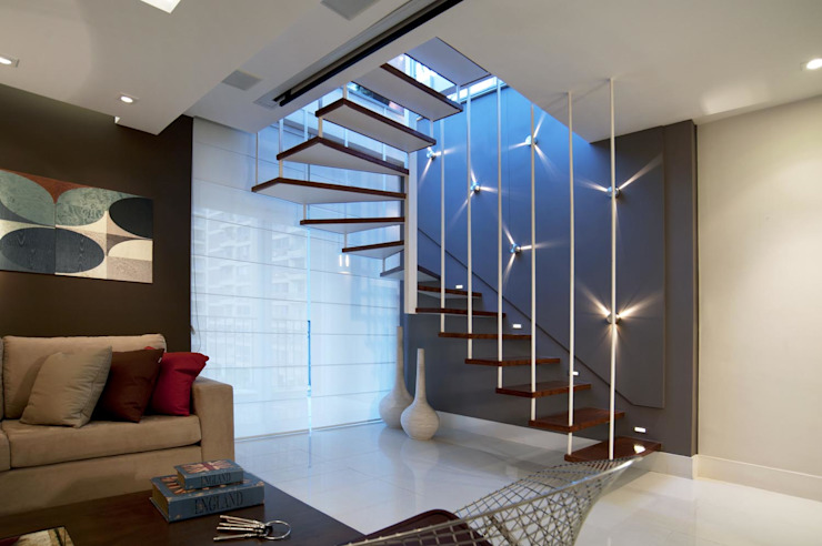 Modern Corridor, Hallway and Staircase by m++ architectural network Modern