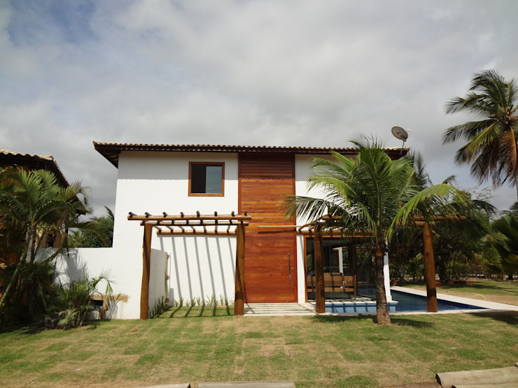 Rustic style house by Tupinanquim Arquitetura Brasilis Rustic