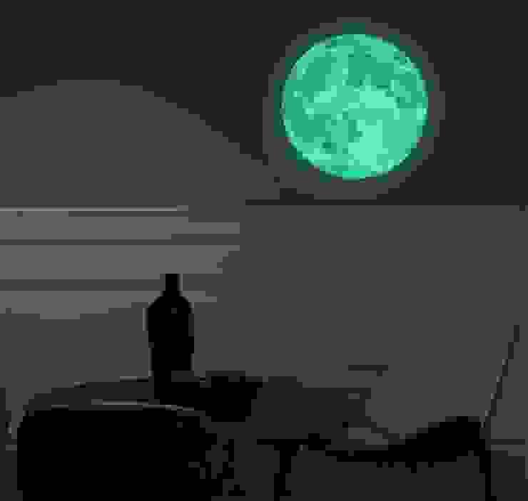 Sticker Lune phosphorescente par Ambiance Live Group Minimaliste