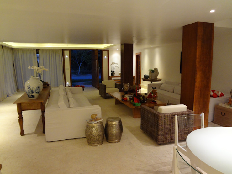 Residência de Praia Salas de estar rústicas por Tupinanquim Arquitetura Brasilis Rústico
