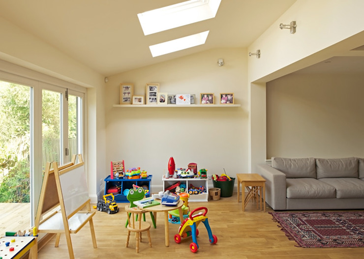 Roundwood Park Civic Design + Build Modern nursery/kids room
