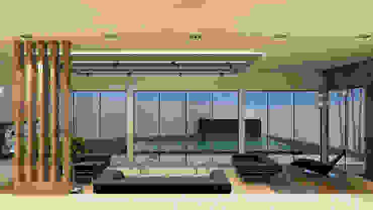 Villa Penélope Salas de estilo moderno de NOGARQ C.A. Moderno