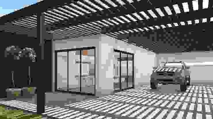 Proyecto Quincho en Las Rosas: Terrazas de estilo  por ARBOL Arquitectos