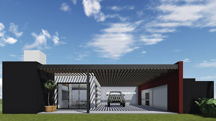 Prefabricated Garage by ARBOL Arquitectos , Modern