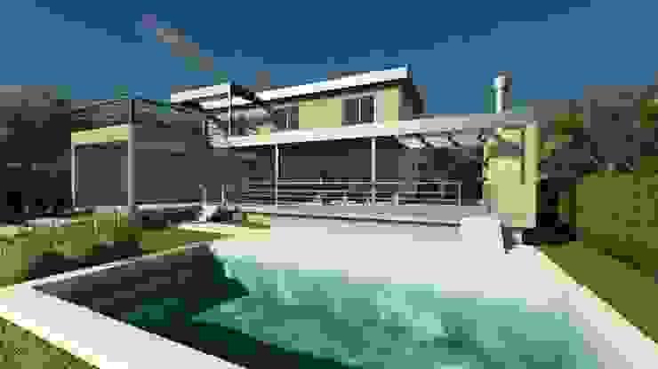 CASA MIRADOR DEL LAGO Piletas modernas: Ideas, imágenes y decoración de MB Arquitectura. Moderno