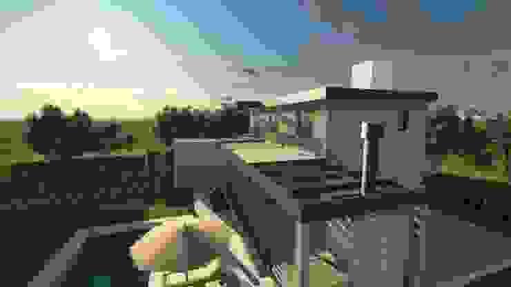 CASA MIRADOR DEL LAGO Casas modernas: Ideas, imágenes y decoración de MB Arquitectura. Moderno