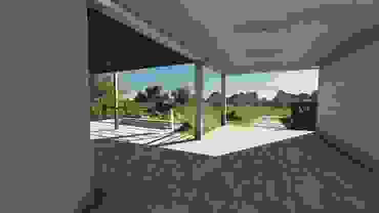 CASA MIRADOR DEL LAGO Balcones y terrazas modernos: Ideas, imágenes y decoración de MB Arquitectura. Moderno