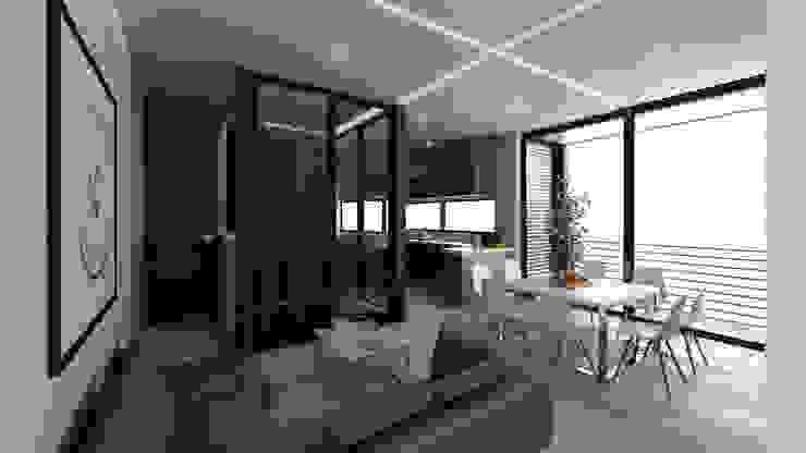 Terraza Hoteles de estilo minimalista de Viztudio Minimalista