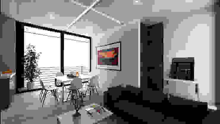 Comedor tipo Hoteles de estilo minimalista de Viztudio Minimalista