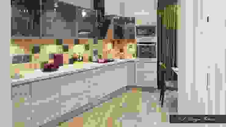 Минималистичная кухня с намеком на лофт Кухня в стиле лофт от vl design interior Лофт