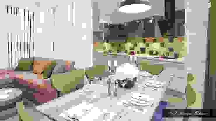 Минималистичная кухня с намеком на лофт Кухня в стиле лофт от vl design interior Лофт Дерево Эффект древесины