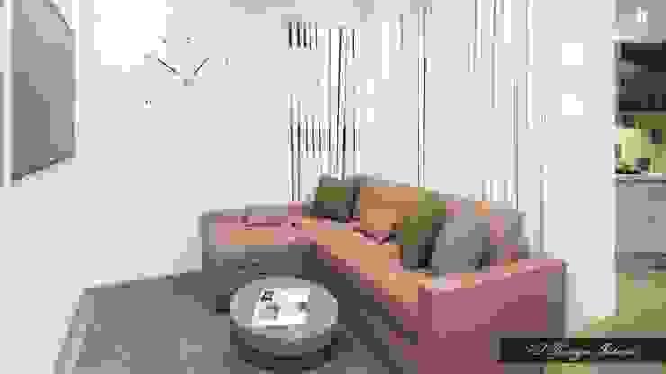 Компактная гостиная зона Гостиная в стиле лофт от vl design interior Лофт Дерево Эффект древесины
