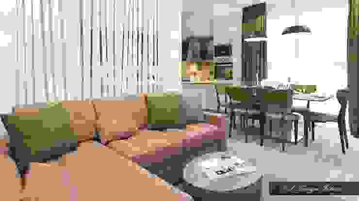 Компактная гостиная зона Гостиная в стиле лофт от vl design interior Лофт