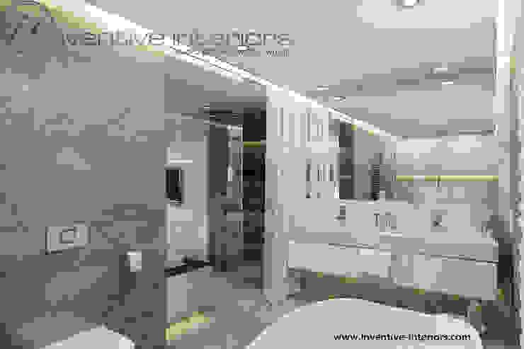 Marmur w łazience: styl , w kategorii Łazienka zaprojektowany przez Inventive Interiors,