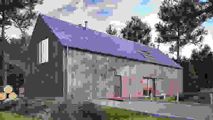 Uniwersalny plus natura #4 Minimalistyczne domy od INDEA Minimalistyczny