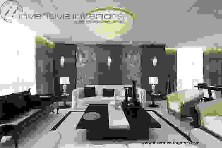 INVENTIVE INTERIORS – Projekt apartamentu ze złotem Klasyczny salon od Inventive Interiors Klasyczny Drewno O efekcie drewna