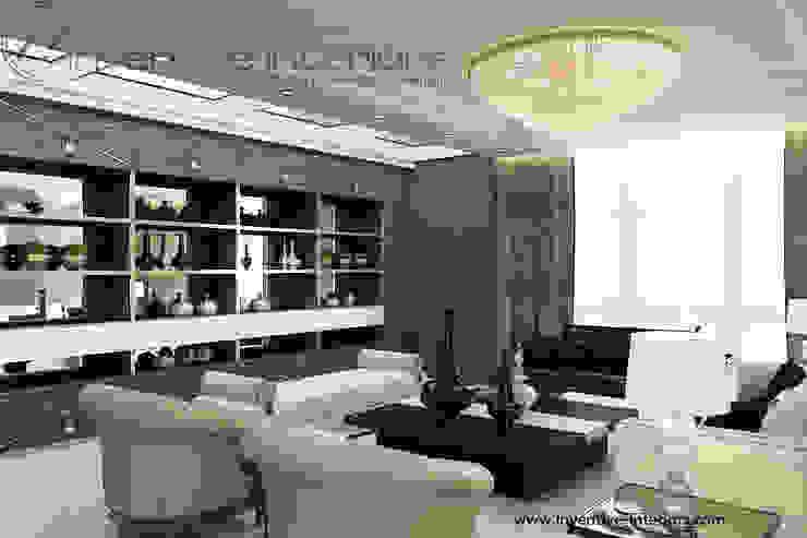 INVENTIVE INTERIORS – Projekt apartamentu ze złotem Klasyczny salon od Inventive Interiors Klasyczny