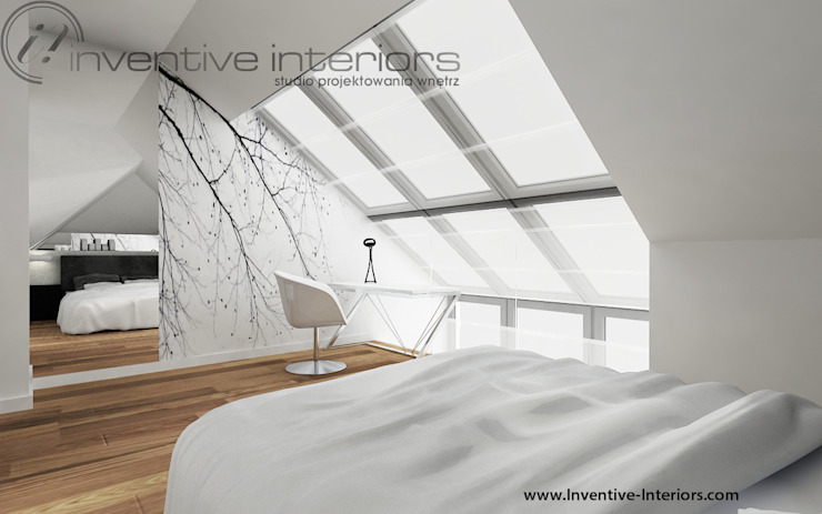 Inventive Interiors Minimalist bedroom White