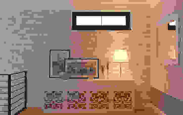 Закий Коридор, прихожая и лестница в эклектичном стиле от Brama Architects Эклектичный Камень