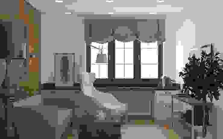 Закий Рабочий кабинет в эклектичном стиле от Brama Architects Эклектичный Дерево Эффект древесины