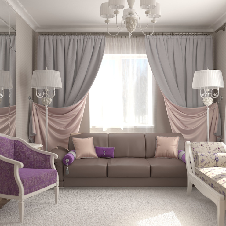 Вычулки: Гостиная в . Автор – Brama Architects, Классический Изделия из древесины Прозрачный