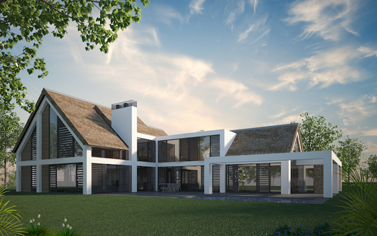 Villa JSPE Minimalistische huizen van 2architecten Minimalistisch Glas