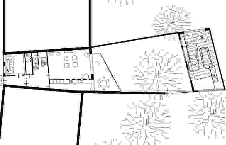 plattegrond Moderne huizen van Engelman Architecten BV Modern