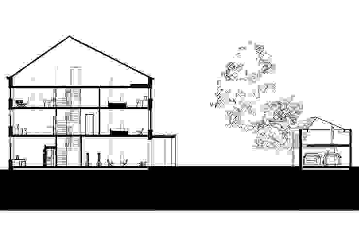 doorsnede Moderne huizen van Engelman Architecten BV Modern