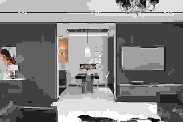 Ямно Гостиная в стиле минимализм от Brama Architects Минимализм Керамика