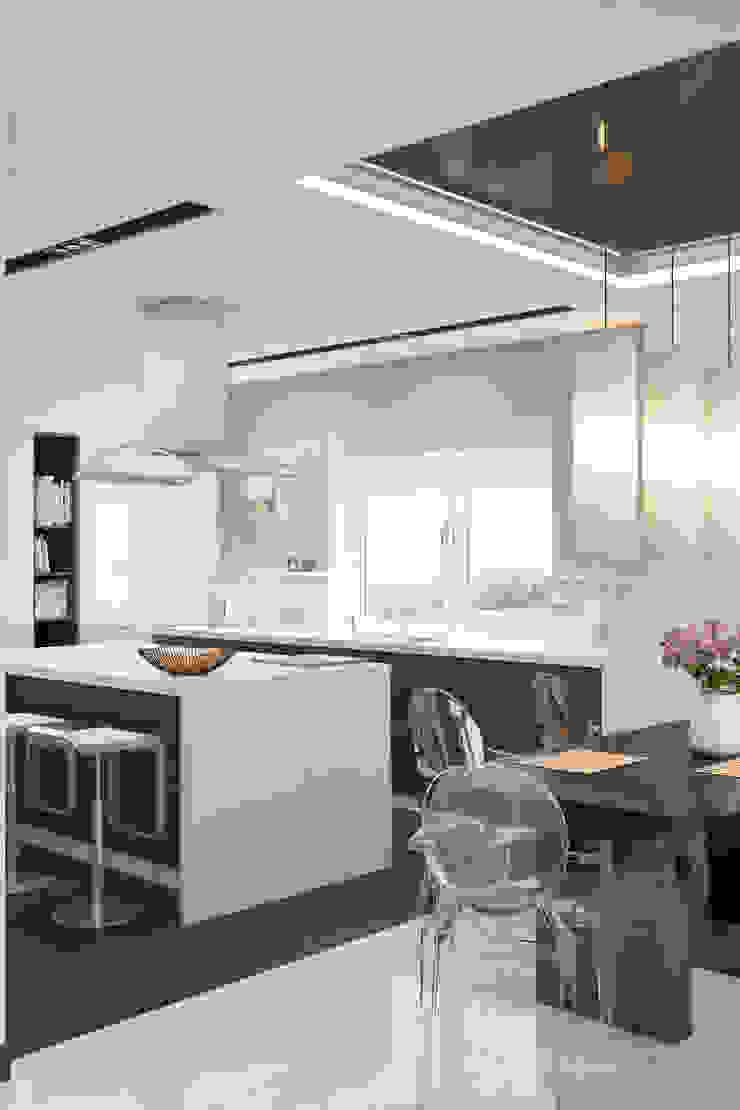 Ямно Кухня в стиле минимализм от Brama Architects Минимализм МДФ