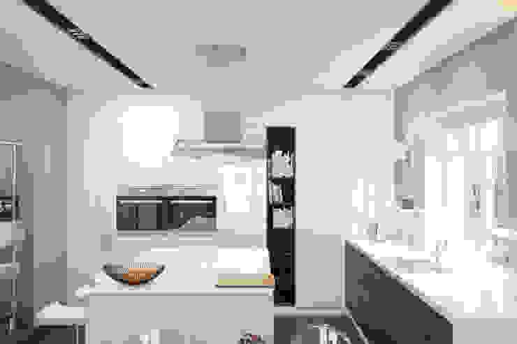 Cocinas de estilo minimalista de Brama Architects Minimalista Tablero DM