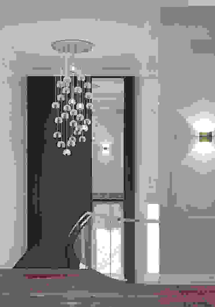 Ямно Коридор, прихожая и лестница в эклектичном стиле от Brama Architects Эклектичный Мрамор