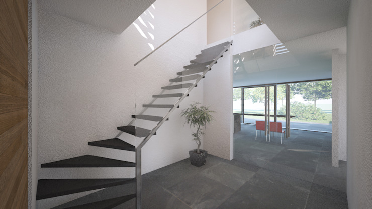 Woonhuis APOR Mierlo Moderne gangen, hallen & trappenhuizen van 2architecten Modern